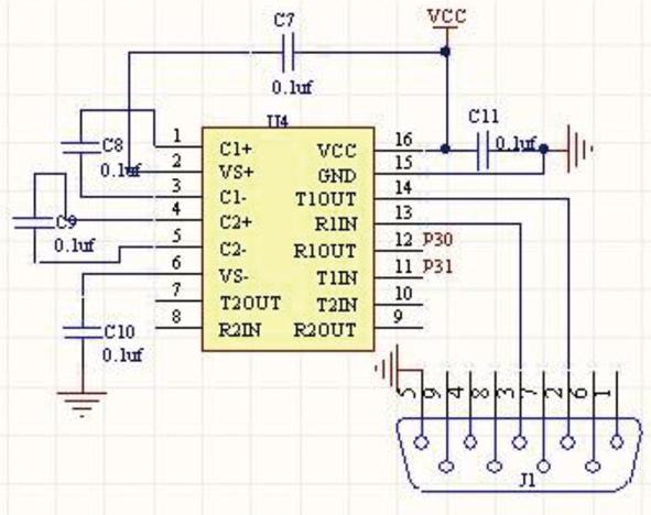 图2   rs232电平与ttl电平转换电路